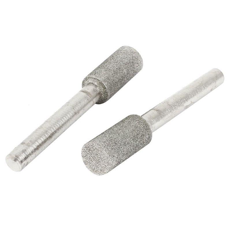 2pcs 6mm Shank 10mm Diameter Cylinder Head Grinding Diamond Grinding Pen