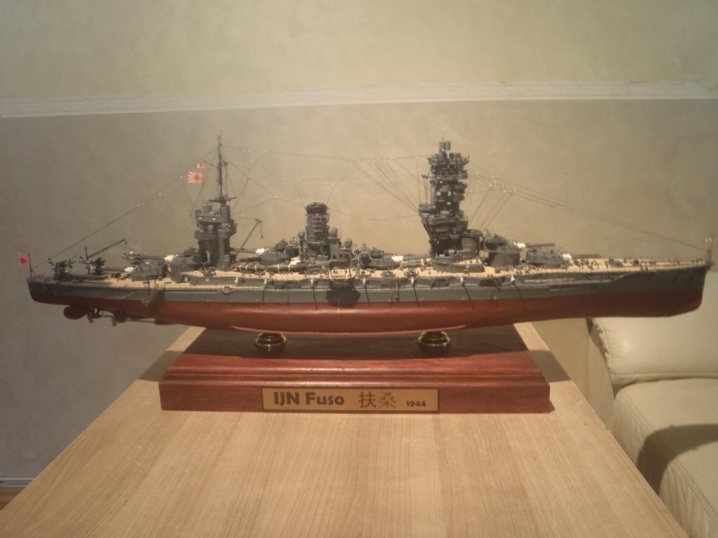 World War II Japanese battleship Fuso 1:180 3D paper DIY civil war battleship