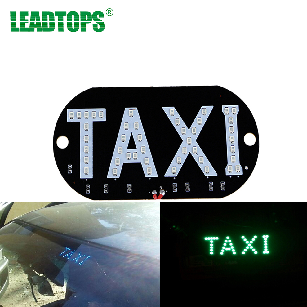 1Pcs/lot Taxi led Car Windscreen Cab indicator lamp Sign Blue LED Windshield Taxi Light Lamp 12V For taxi AD 45smd led white blue green red yellow car auto cab sign top light vehicles windscreen white led lamp dc 12v taxi light