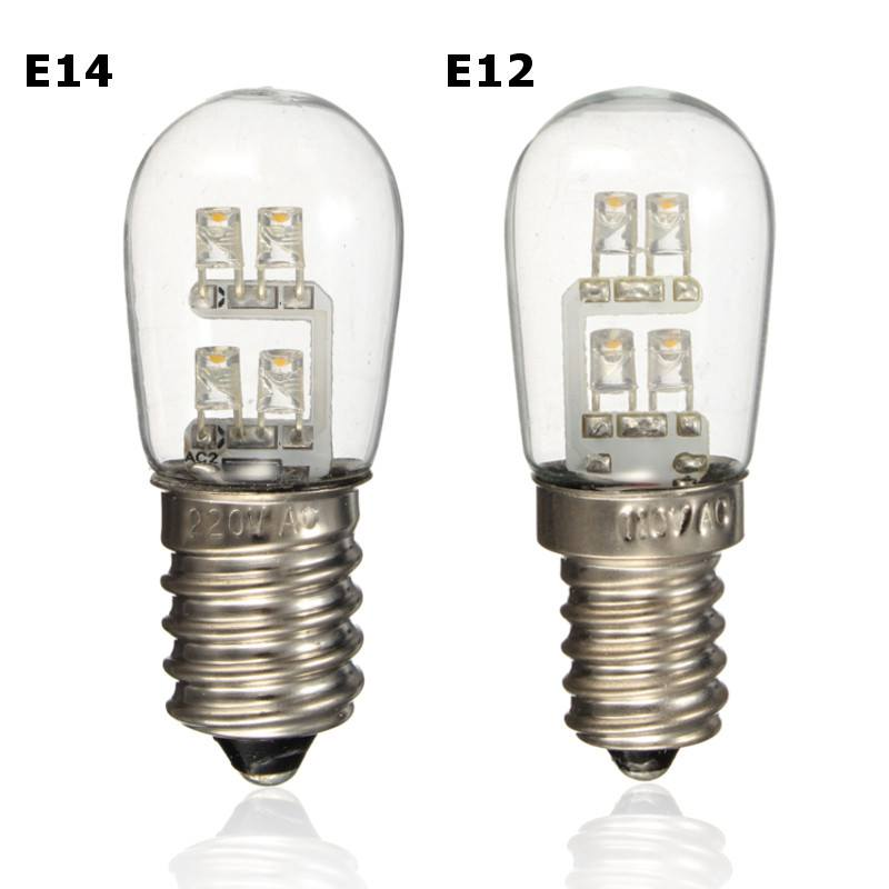 05w led bulb e12 e14 mini candelabra candle light led fridge light lamp pure warm - E12 Led Bulb