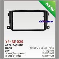 Liislee 2 DIN ABS Plastic Frame Radio Fascia For Benz Smart (European) 2007~2015 Auto Interface Dash CD Trim Installation Kits