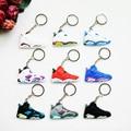 Mini Jordan 6 Key Chain For Men Woman Silicone Sneaker Keychain Key Ring Key Holder Gifts Key Chain