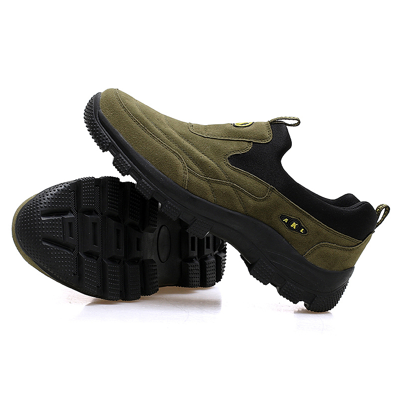Outdoor Shoes for Hiking Travling Trekking Camping Mens Fall Suede Slip-On Hiking Shoes Mountain Climbing Hunting Shoes Men