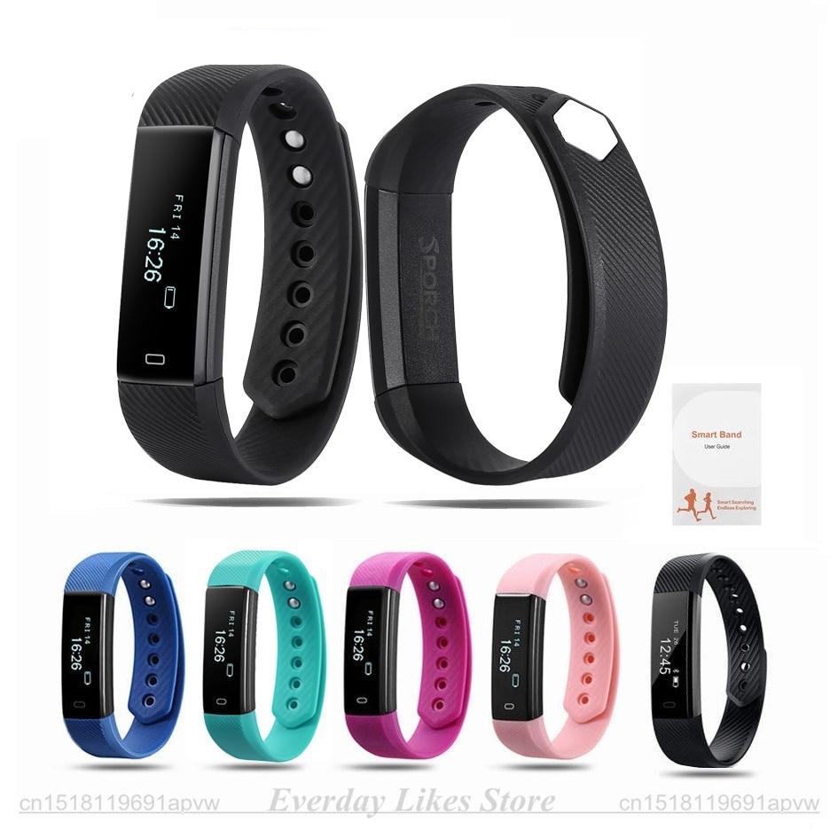 Sporch ID115 умный Браслет Фитнес трекер часы будильник счетчик шагов умный Браслет Группа Спорт сна Мониторы SmartBand