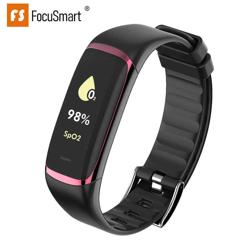 Bracelet intelligent focmart P9 HRV santé cardiaque SpO2 en temps réel moniteur de fréquence cardiaque en oxygène sanguin bracelet intelligent pour la santé