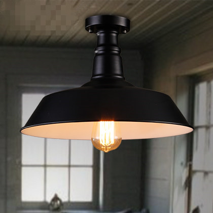 Loft Retro Aisle Stairs Balcony Porch Light American Industrial Restaurant Small Black Bedroom Ceiling Lamp