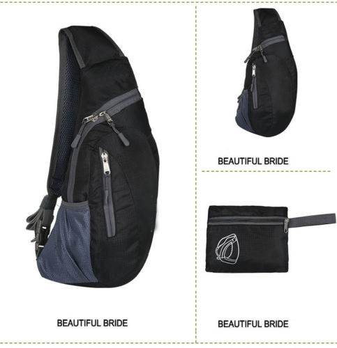 Men Chest Bag Pack Waterproof Travel Sport Cross Body Shoulder Sling Chest Bag Mountaineering Mobile Phone Bag Waist Packs