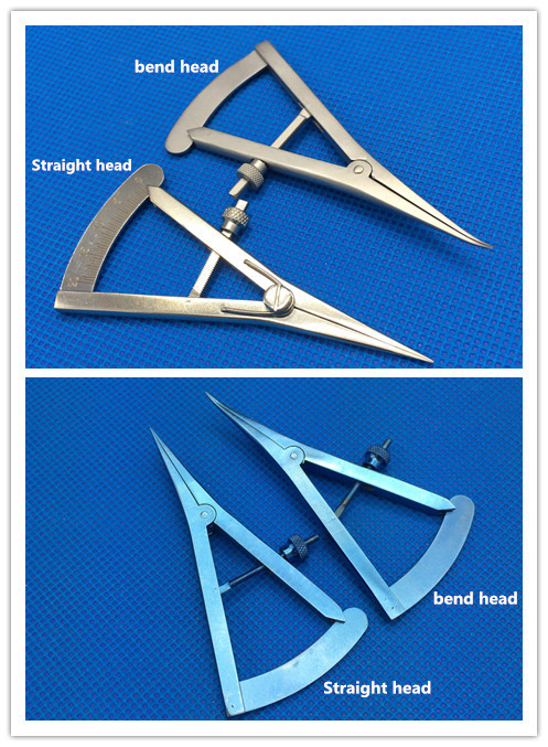 Bset Screw Adjustment Styles Caliper 20mm Ophthalmic Eye Instrument Stainless Steel/ Titanium Surgical Caliper