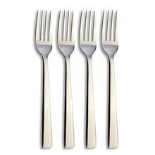 4 pcs/Lot Sliver Flatware Dessert Fork Set Mirror Polishing Stainless Steel Dinner Fork Salad Fork Cutlery Set