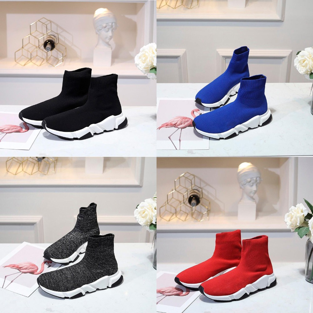 2019 high quality customize BAL speed trainer stretch-knit high-top sneakers women Speed knitted casual shoes size EU45 EU462019 high quality customize BAL speed trainer stretch-knit high-top sneakers women Speed knitted casual shoes size EU45 EU46