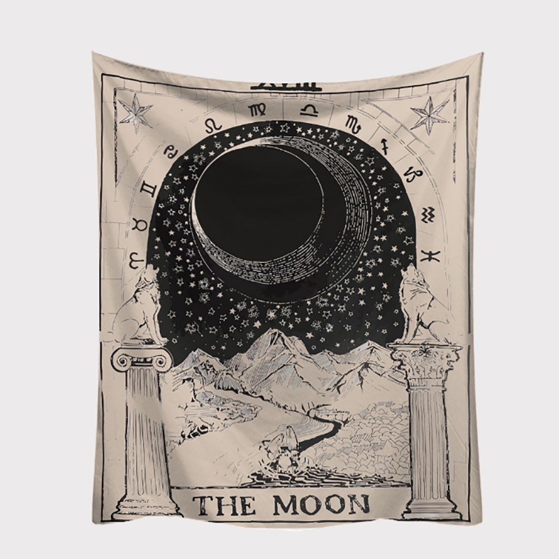 Velvet Tablecloth With Astrology Pattern