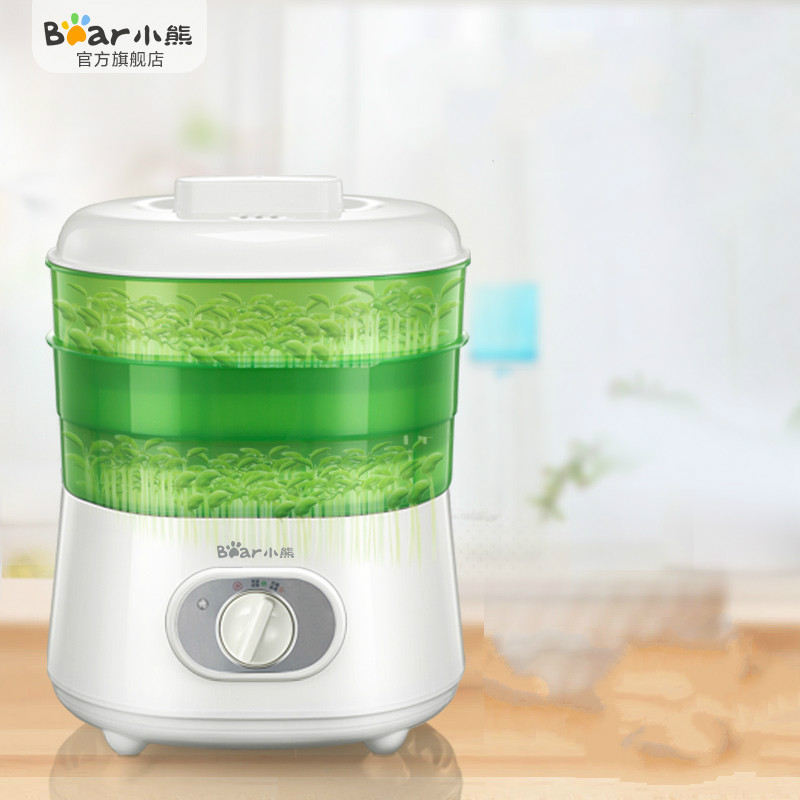 Bear Electric Automatic Bean Sprout Machine with Ajustable 2 Layers Large Capacity Smart Thermostat Green Seeds Growing Machine automatic bean sprout machine 2 3 layers with pressure plate large capacity thermostat green plant seeds growing machine