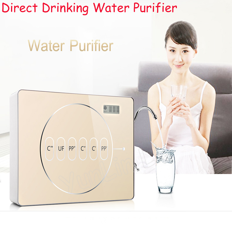 Level 6 Filter Direct Drinking Water Purifier Home Tap Water Intelligent Ultra-Filtration Terminal Water Purifier AZX-08UF-C5 5 stage drinking ultra filtration system uf home purifier water filters faucet household ultra filtration water filter kitchen
