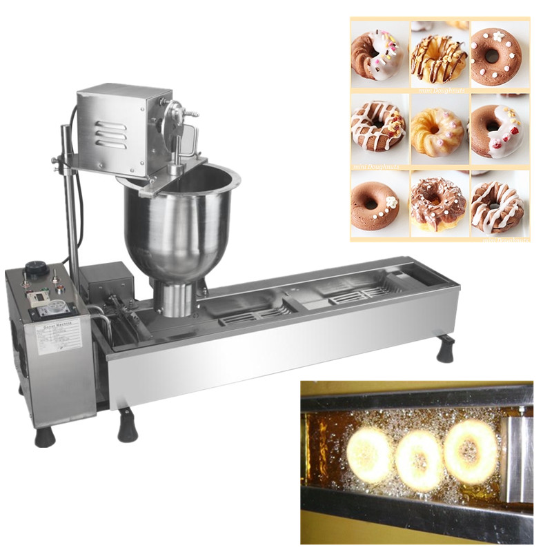Automatic donut making machine professional sweet doughnut maker productivity 850 1200pcs hours three sizes industrial automatic donut making machines