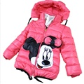 2-7Yrs Baby Girls Winter Jacket&Coat,Children Winter Warm High quality Cotton-padded Outwear&Coat,Baby Boys&Girls Minnie Jacket