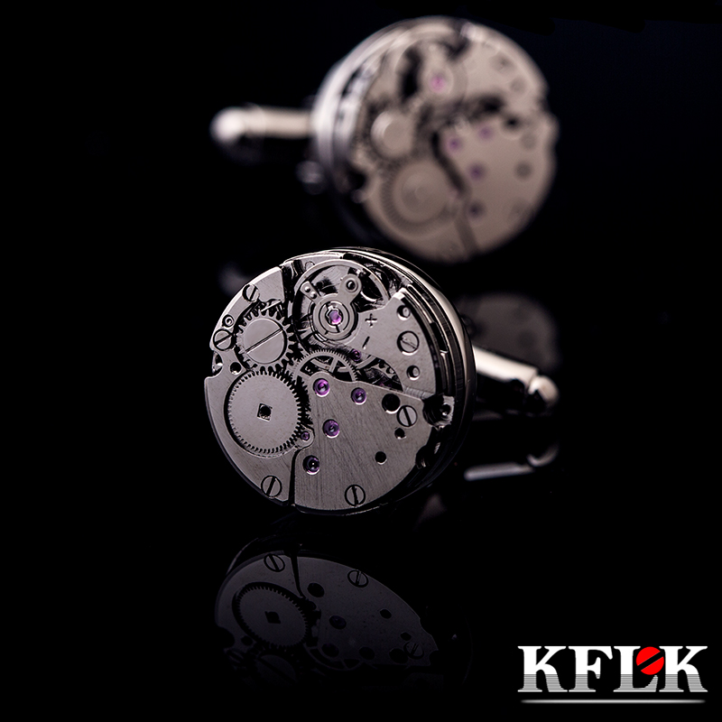 KFLK brand high quality mechanical cufflinks men cuff links wedding gift French shirt button 2017 New arrival free shipping