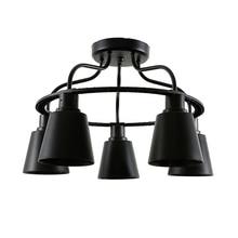 Retro Industrial Loft Nordic Ceiling Lights Loft  E27 Lamp Creative Ceiling Light 3/5 Heads Lamp For Home Decor Restaurant