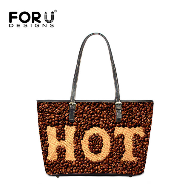 Forudesigns Brand Designer Handbags High Quality Women Pu Leather Hot Letter Printed Tote Bag Famous Las