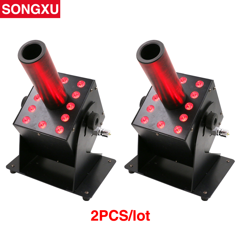 2pcs lot Pro DJ Equipment LED Co2 Jet Machine 12 x 3W RGB 3IN1 CO2 Jet