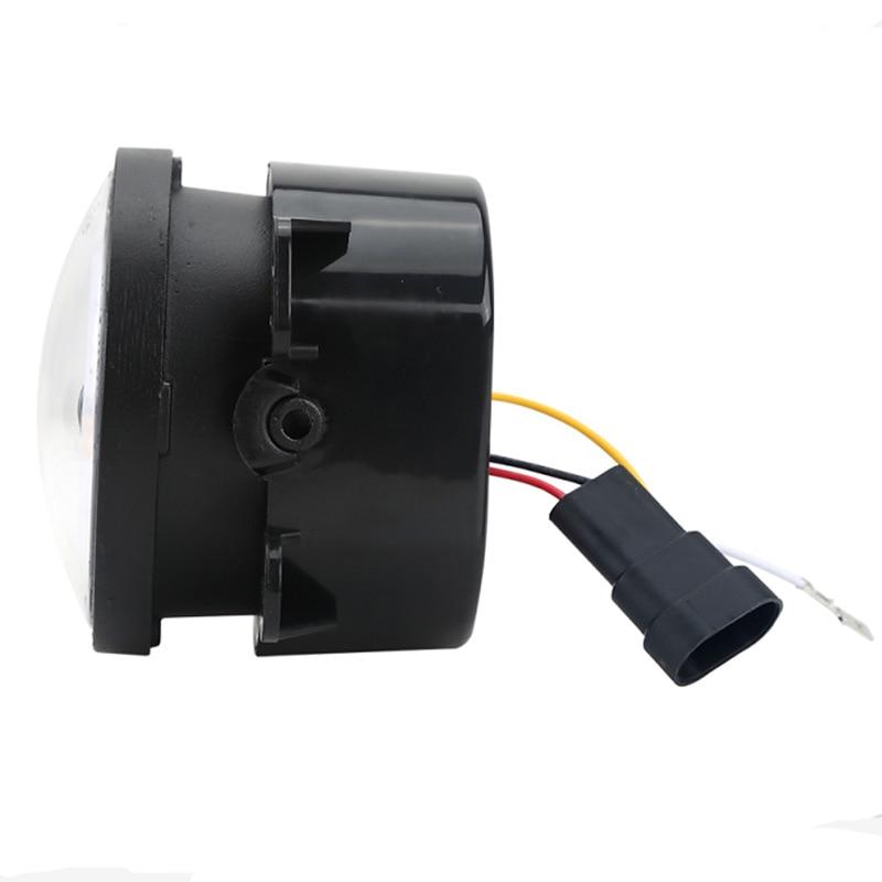 DUU 2PCS DOT 4 Inch Round Wrangler Led Fog Lights 30W 6000K White Halo Ring DRL Off Road Fog Lamps For Jeep Wrangler JK TJ LJ
