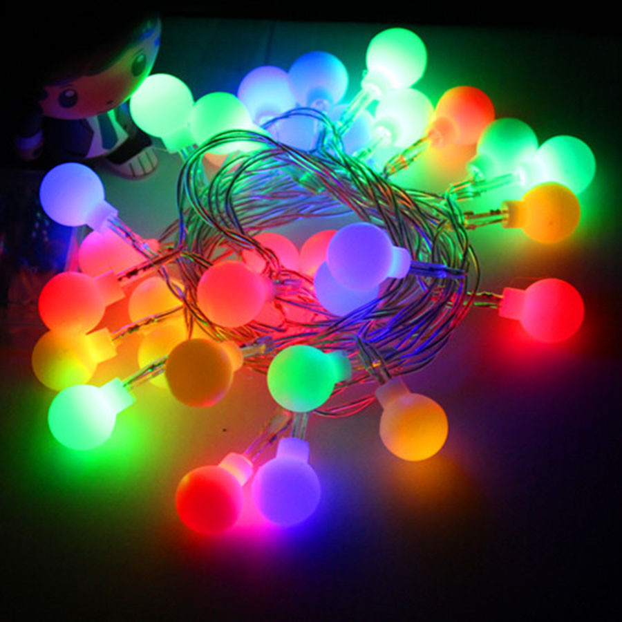 BEIAIDI 2M 5M 10M Starry Ball Christmas Led String Fairy Light Garland Battery Powered Outdoor Festoon Ball Wedding Party Light