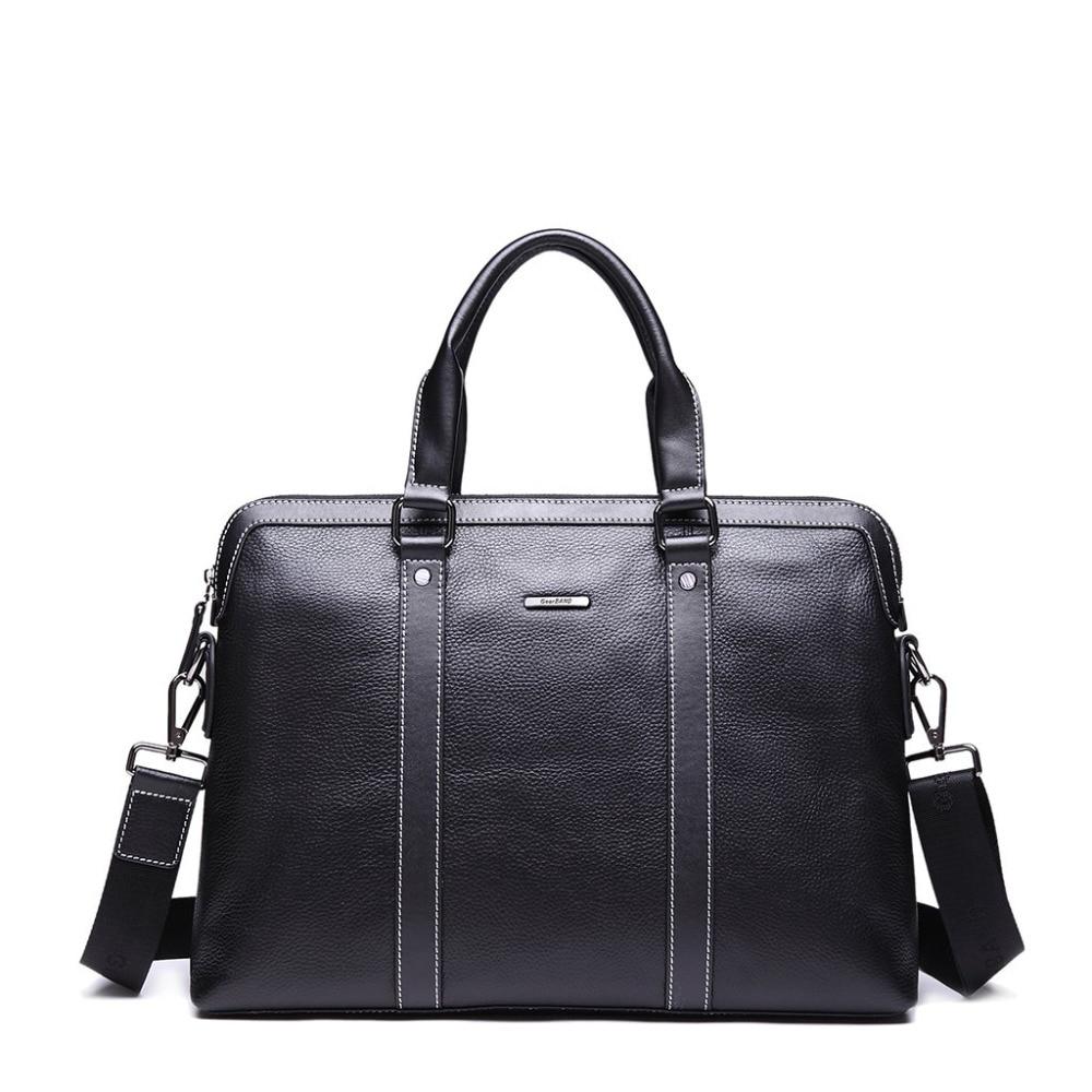 GearBAND 2019 New Fashion Men's Men Genuine Real Cowhide Leather Messenger Shoulder Tote Handbag Laptop Bags Hand BAG Briefcase