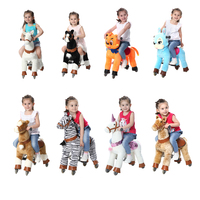 Amusement Ride On Horse Toys for 3 7Y Boy Girl Children Lovely Sliding Mechanical Horse Animal Ride Scooter Christmas Gifts HOT!