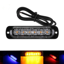 6LED Strobe Light Bar 12/24V 18W 18 Flash Models Emergency Fog Warning Lamp Auto Truck Off road SUV Driving Working