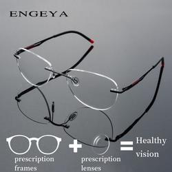 5926a0bf42d Alloy Eyewear Prescription Eyeglasses Men Women Fashion Rimless Optical  Progressive Spectacles Super Light  IP8033