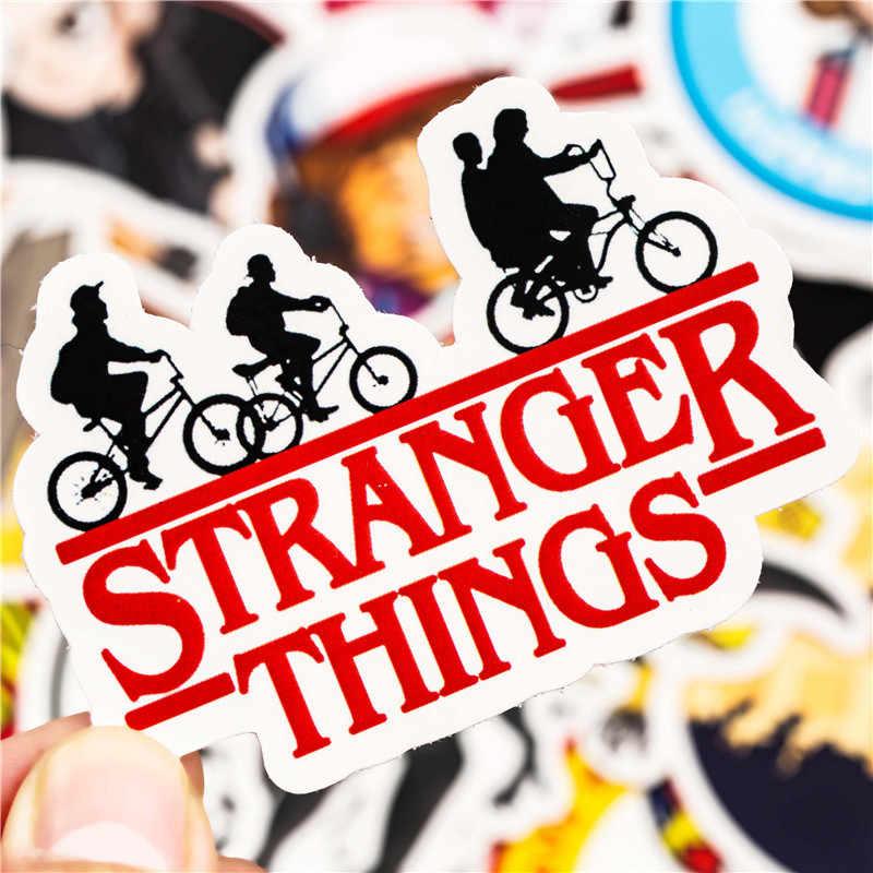 30 piezas extraño cosa figura pegatinas Anime juguete de etiqueta para equipaje portátil monopatín impermeable de la etiqueta de PVC