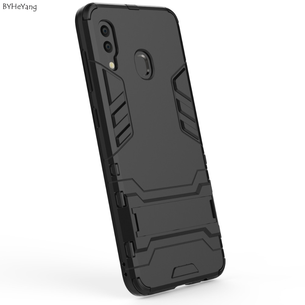 SFor Samsung Galaxy A20 Case Shockproof Armor Rubber Silicone Hard PC Phone Case On For Samsung A20 (2019) A 20 Full Protective
