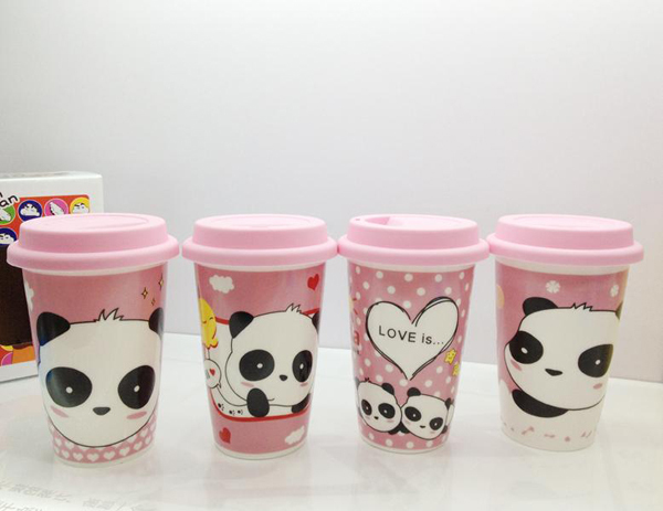 Carton Mug Water Cup Cute Coffee With Lid Panda Novelty Mugs Free Shipping