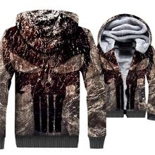 the homme 3D print sweatshirt clothes sportswear coats zip keep warm wool liner hoodies 2018 winter thick jackets men Hip Hop casual thick wool liner hip hop jackets men punk fashion coats long sleeve hooded clothes the superhero 3d print sweatshirt 2019
