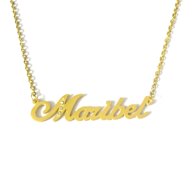 93fa44f59 FairLadyHood Handmade Maribel Custom Name Necklace Personalized Name  Jewelry Custom For Women & Men Name For