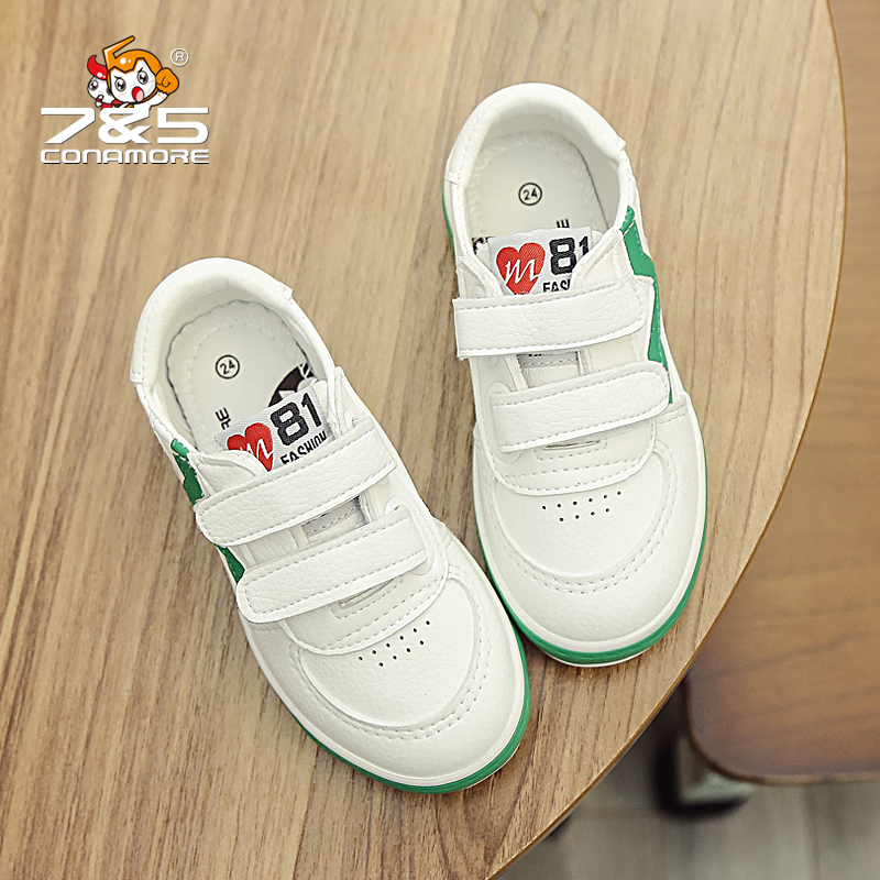 Free shipping Children shoes boys girls white shoes waterproof PU Leather kids sneakers flat Loafer Toddler school Student shoes kids shoes girls boys pu leather lace up high children sneakers girl baby shoes sport autumn winter children shoes