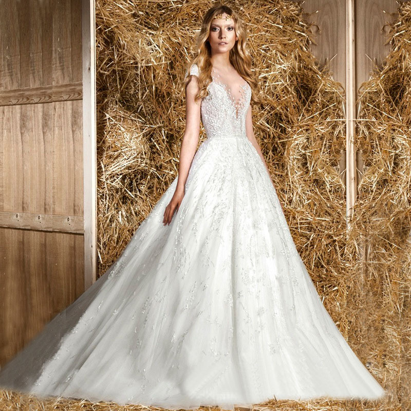 Best Wedding Gowns 2015: 2015 New Sexy French Best Wedding Dress Classic Romantic