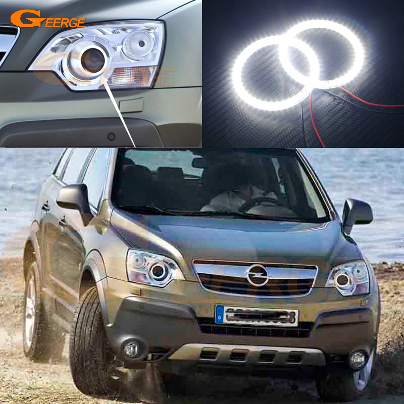 For Opel Antara 2006 2007 2008 2009 2010 xenon headlight Excellent Angel Eyes Ultra bright illumination smd led Angel Eyes kit for alfa romeo 147 2005 2006 2007 2008 2009 2010 headlight ultra bright illumination cob led angel eyes kit halo rings