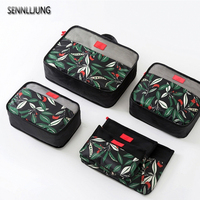 6 Pcs Top Fashion Travel Storage Bag Set For Clothes Tidy Organizer Pouch Suitcase Home Closet Divider Container Organiser