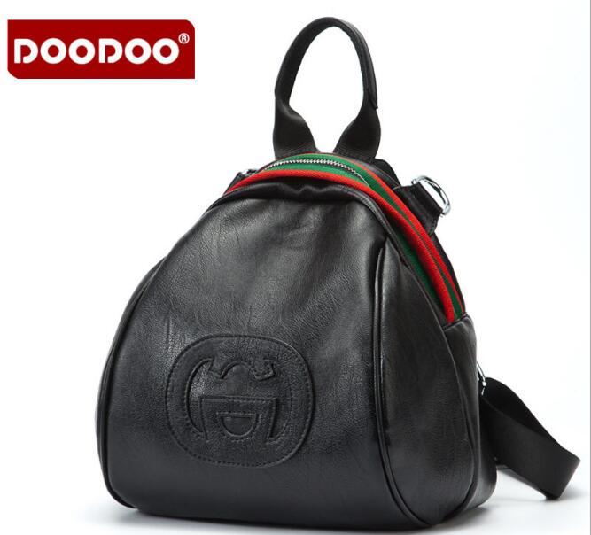 DOODOO Brand New Famous Brand Quality Leather Bag Backpack Small Backpacks Bags Shoulder Bags Backbag bagpack