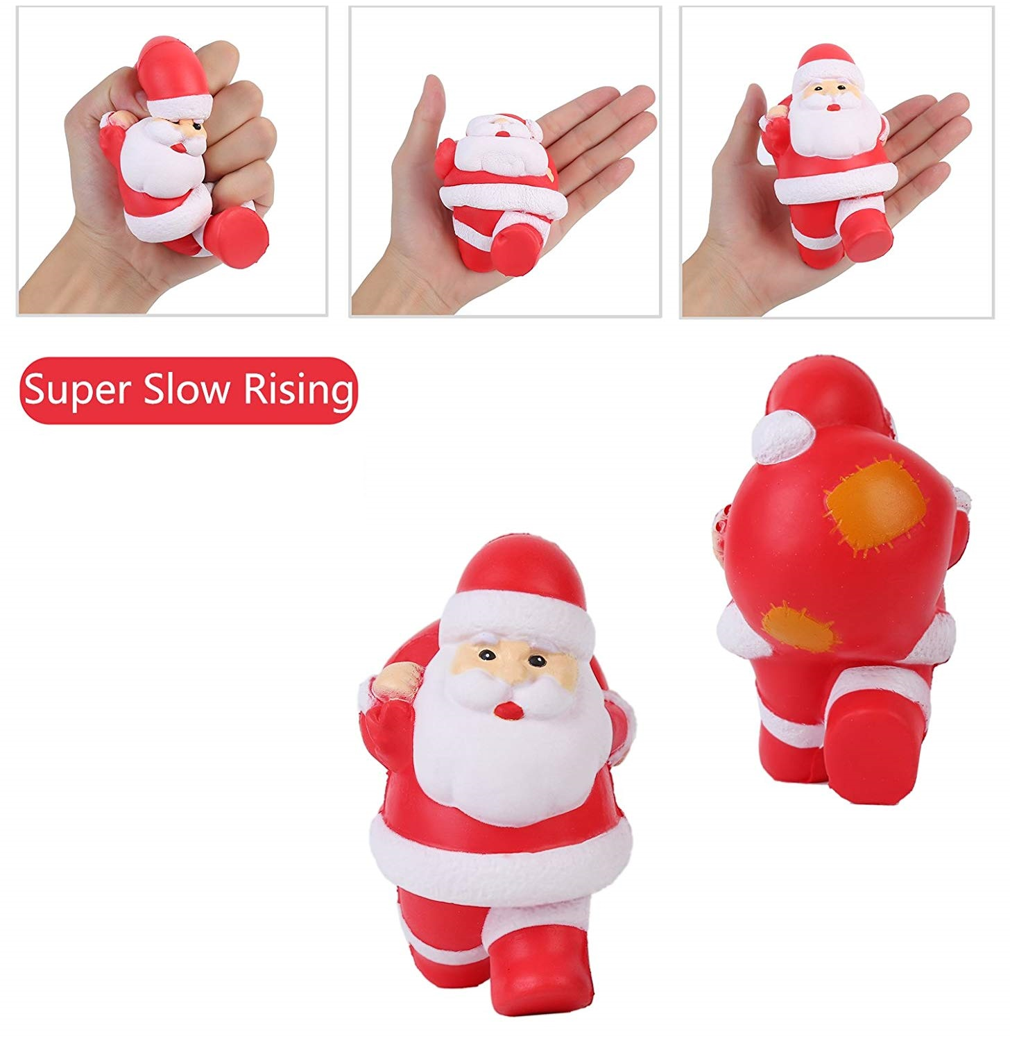 Wholesale Jumbo Slow Rising Snowman Squishy Squeeze KidsToy Reliever Stress Kids Christmas Gift Drop Shipping