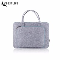 Green Colors 13 15inch Fashionable Felt Laptop Sleeve Case Anti Scratch Cover Bag For Macbook