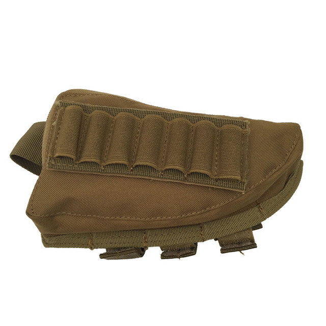 Tactical Rifle Buttstock Bullet Holder Adjustable Cartridge Pouch Bag Airsoft AJ