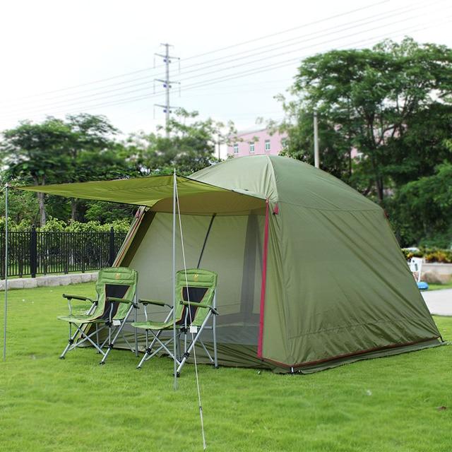 e5d87e9897836 Grandes tentes de Camping pour camping familial 4-10 personnes plage fête tente  étanche Double