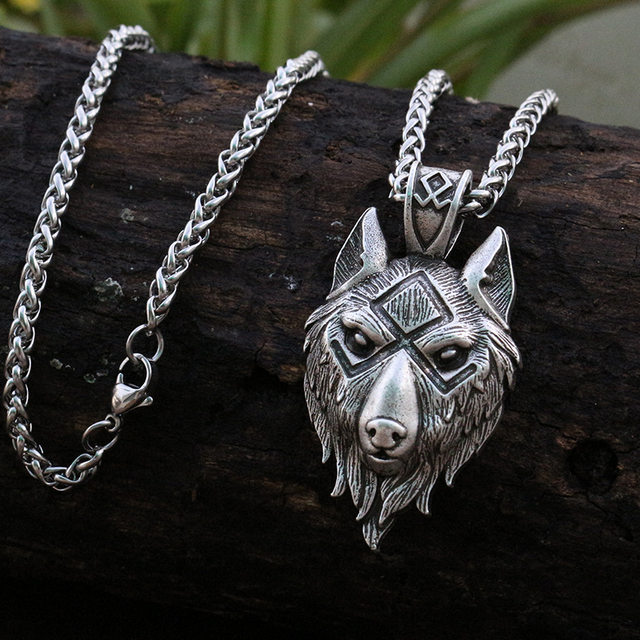 pewter norse wolf macht pendant museumreplicascom - 640×640