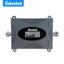 Amplificador poderoso umts 2100 mhz do repetidor do impulsionador do sinal do telefone celular de lintratek versão de atualização 3g wcdma repetidor do telefone móvel/
