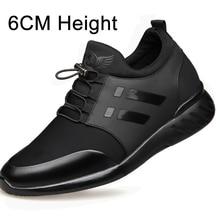 2020 גברים של נעליים באיכות לייקרה + פרה עור נעלי מותג 6CM הגדלת נעליים בריטי חדש אביב גבר שחור מקרית גובה נעליים