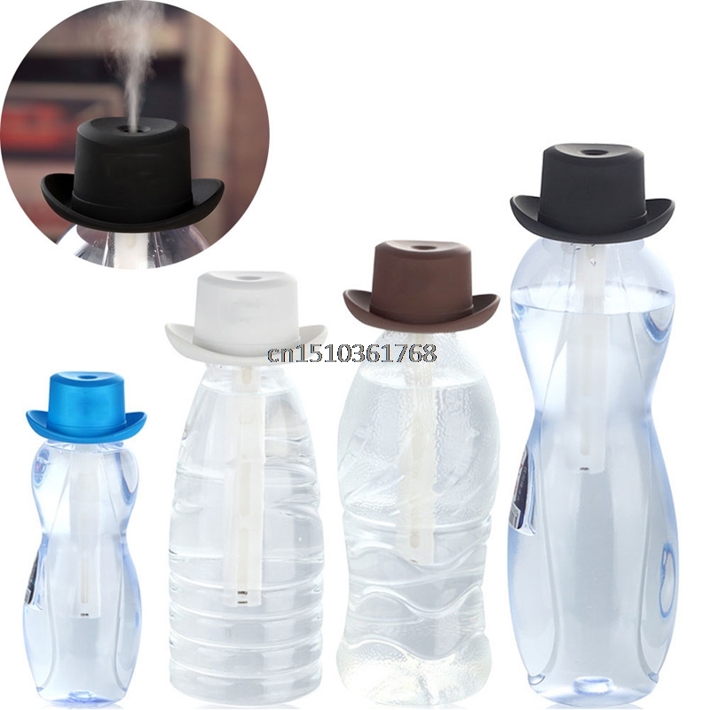 Hat USB Portable Mini Water Bottle Caps Humidifier Aroma Air Diffuser Mist Maker mymei room office usb mini water bottle caps humidifier aroma air diffuser mist maker