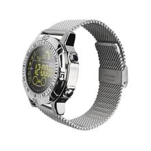 EX28A Smartwatch Activity Tracker Bluetooth 4.0 Waterproof Multi-long Sport Bracelet Steps Calorie Record Canvas Steel Strap