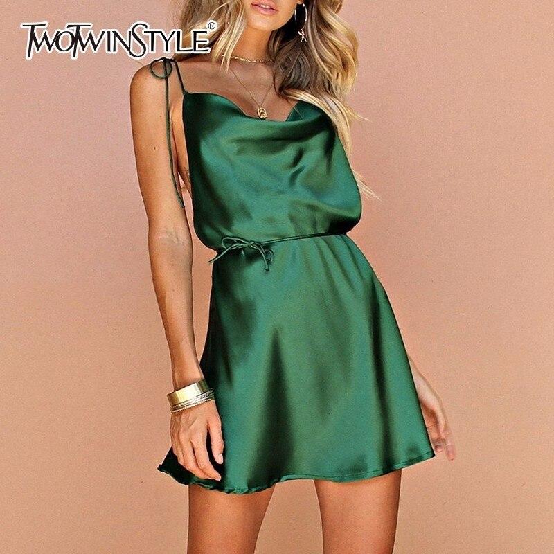 Robes Dress Haute Green D'été Sexy En Épaule