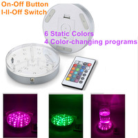 10 개 * 웨딩 파티 장식 6 인치 LED 코스터 RGB 자료 요정 조명 배터리 원격 5 볼트 USB 포트
